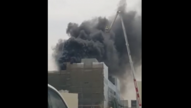 Photo of Fire erupts in construction site