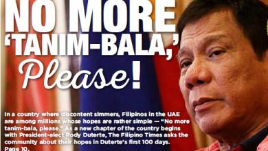 Photo of No more 'tanim-bala,' please! Hassle-free NAIA tops OFWs' wish list for Duterte