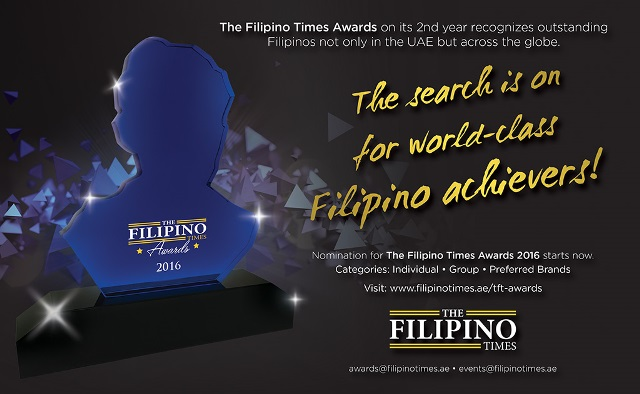 What are you waiting for? Nominate the next The Filipino Times Awardee now!