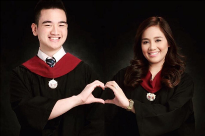#CoupleGoals: Lovers Graduate with Latin Honors