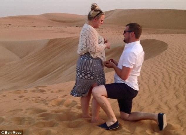 Man flies 3,000 miles to propose to his girlfriend in Dubai desert