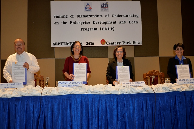 DTI, OWWA help repatriated OFWs become SMEs