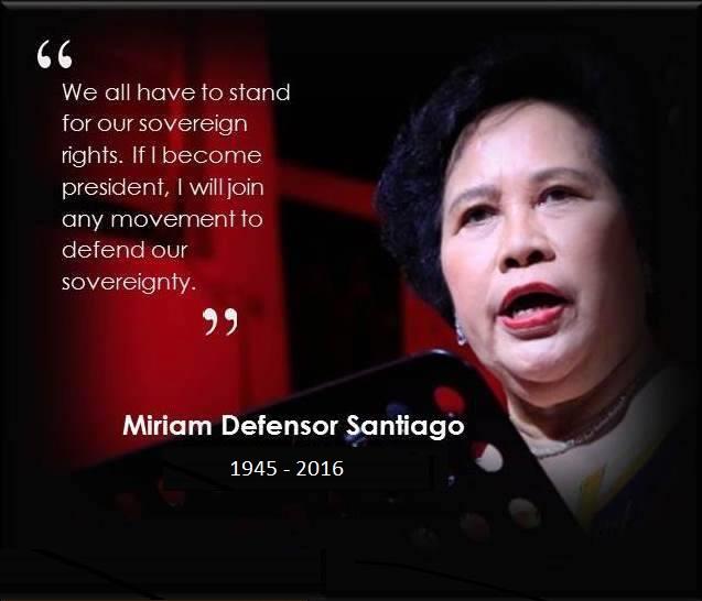 Former Senator Miriam Defensor Santiagon dies