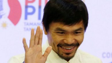 Photo of Pacquiao spars with local pug as Las Vegas fight nears