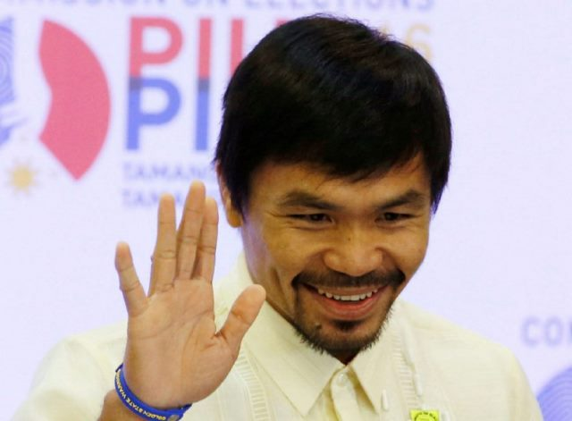 Pacquiao spars with local pug as Las Vegas fight nears