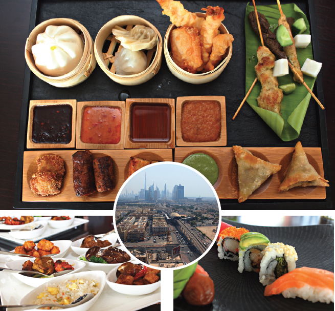 Treat your taste buds with the best of Pan Asian cuisine with the spectacular view of the city