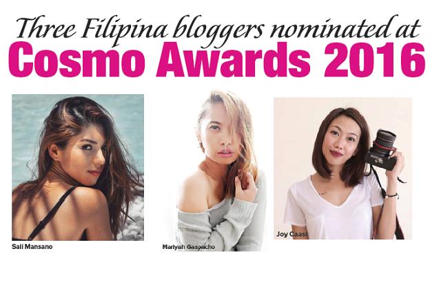 Three Filipina bloggers nominated at Cosmo Awards 2016