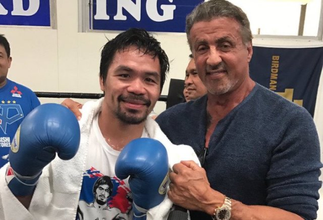 Stallone says Pacquaio is the 'best fighter ever'