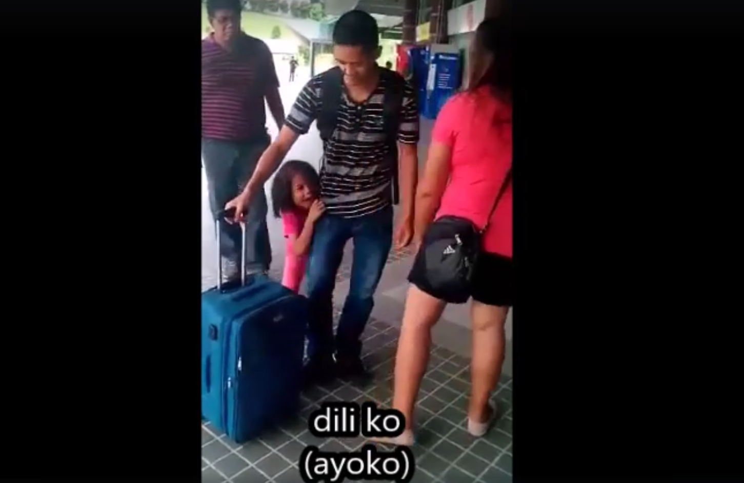 Tearful video of OFW daughter farewell goes viral