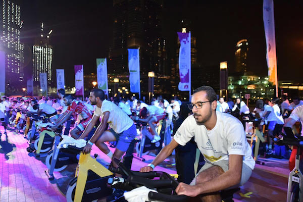 Cyclists in Dubai pedal to Guinness world record