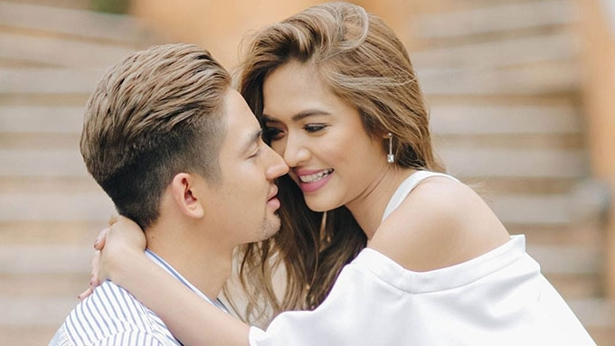 Bangs Garcia marries Fil-British fiance three times