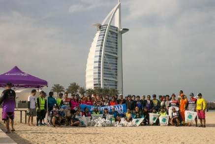 Cycling group does a beach clean-up