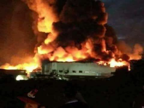 Cavite factory fire continues nearly 24 hours after it started