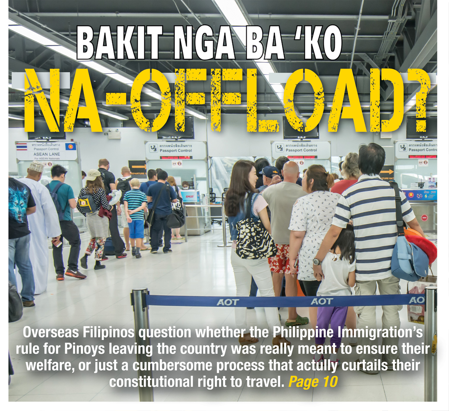 OFs air concerns about offloading at NAIA