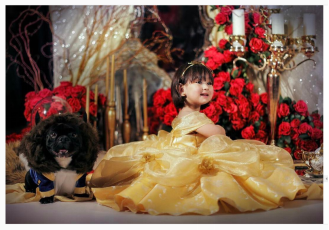 Netizens gushing over Scarlet Snow Belo dressed like Belle of Beauty and the Beast