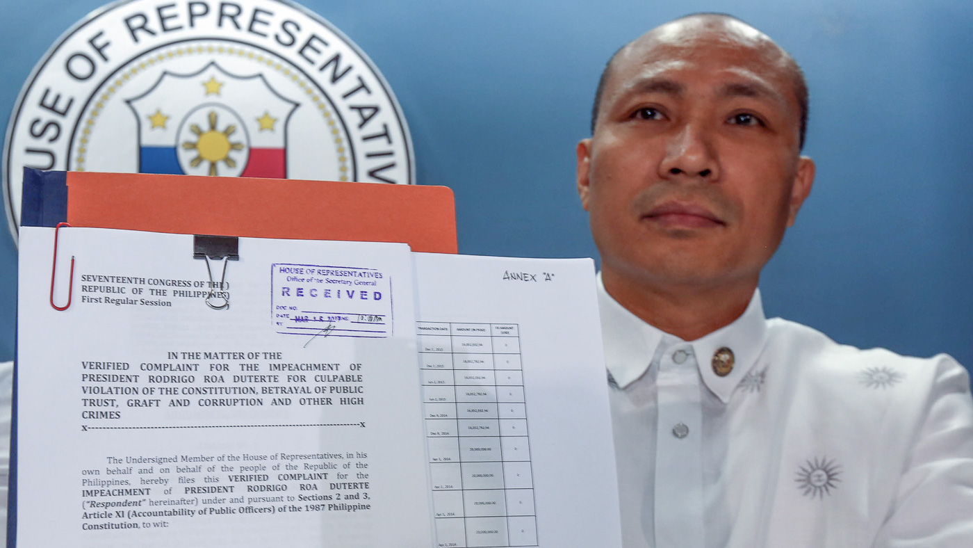 Lawmaker who filed first impeachment complaint vs. Duterte speaks up