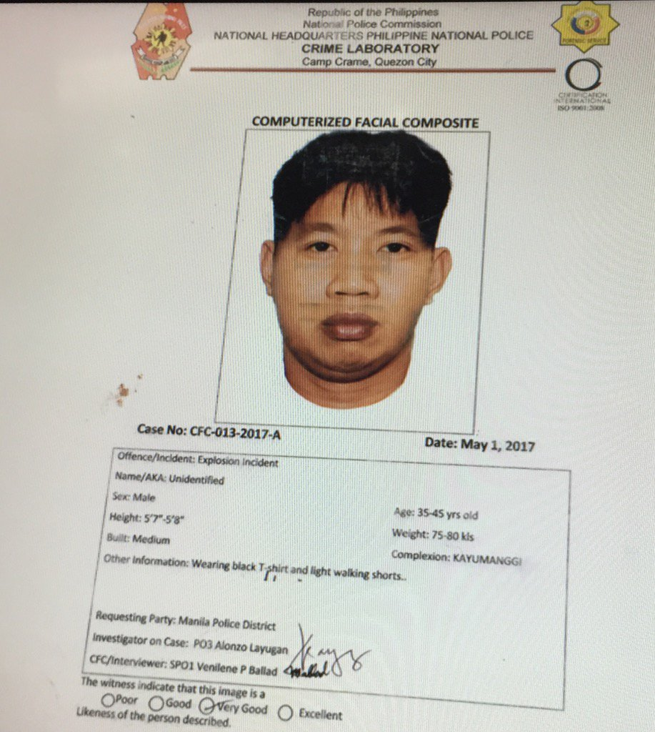 Police nabs 1 of 4 suspects in Quiapo blast