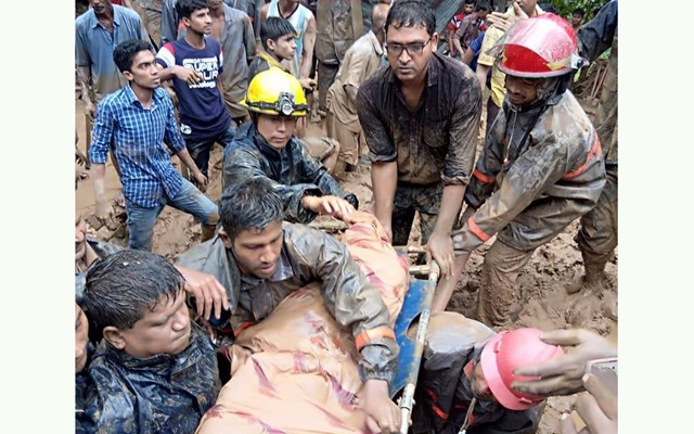 Landslides, floods kill 156 in Bangladesh and India