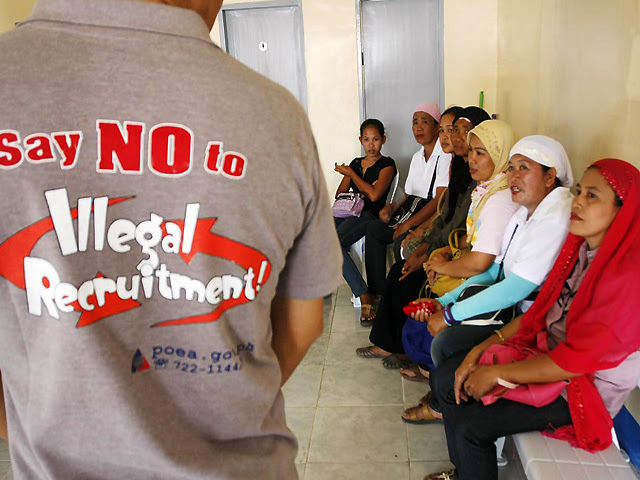 illegal recruitment philippine setting Creates the task force against illegal recruitment smuggling and illegal fishing in philippine and overseas placement of workers by setting up a.