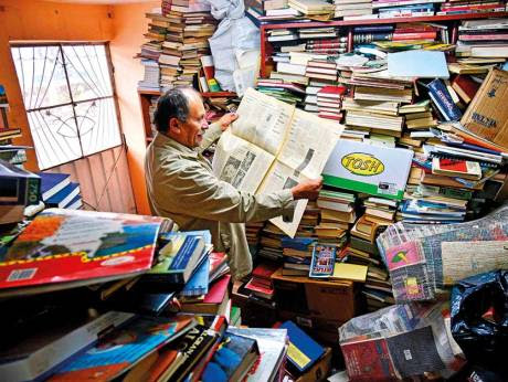 Garbage collector creates library out of thrown books