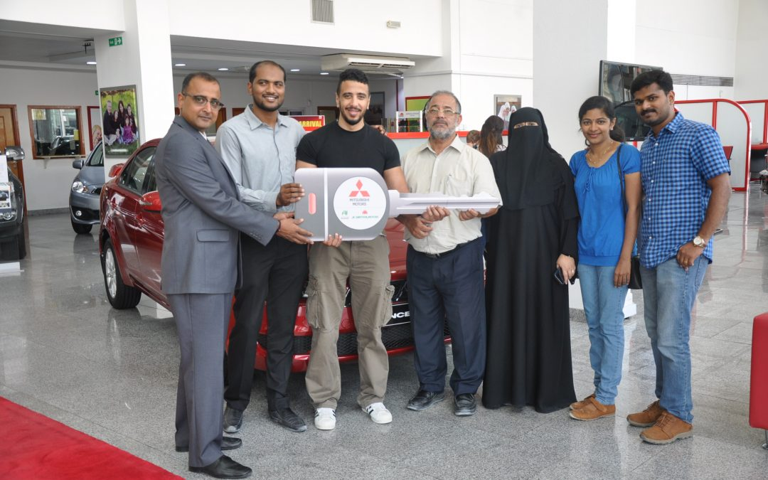 "Al Habtoor Motors rewards 10 Mitsubishi customers  of ""Pick your deal"" Ramadan Promotion  with Lancer EX Cars."