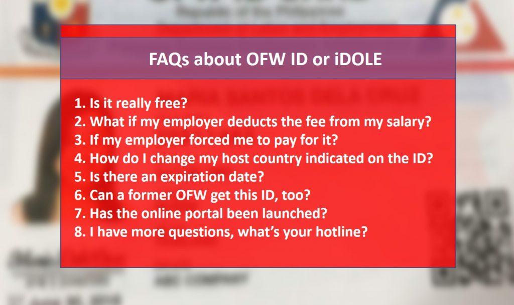 Bello answers OFWs' queries about iDOLE