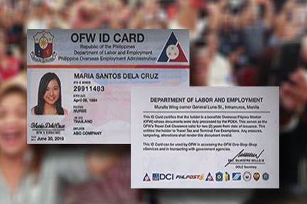 DOLE to distribute 4 million OFW ID cards