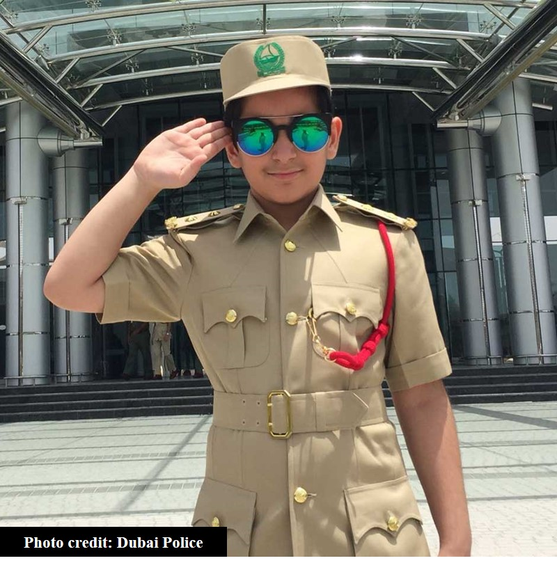 8-yo boy reports for duty at dubai police