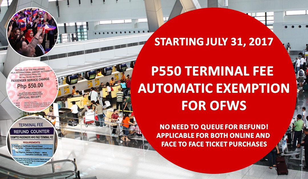 Automatic terminal fee exemption for OFWs starts July 31