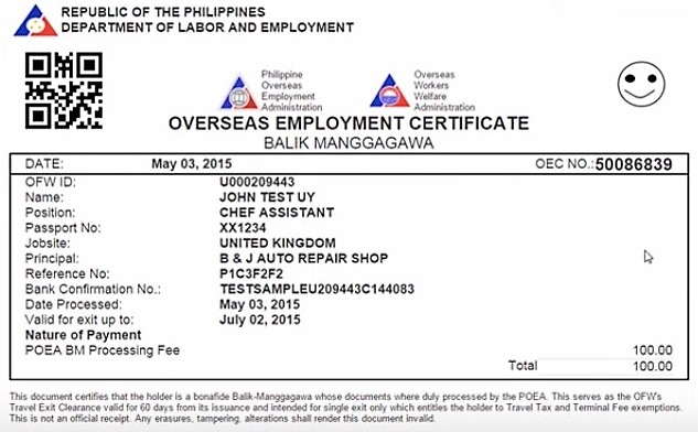 From 3 days, OEC processing now takes 3 weeks - The Filipino