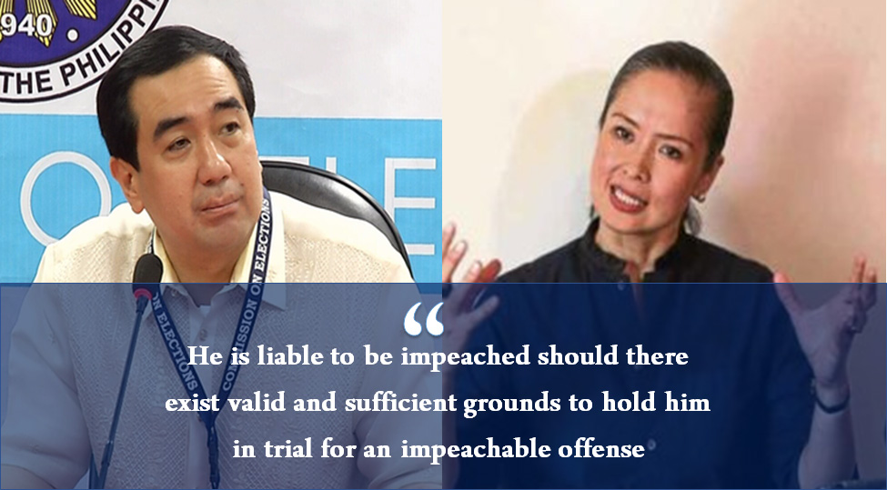 Wife exposes Comelec chair's 'unexplained' wealth