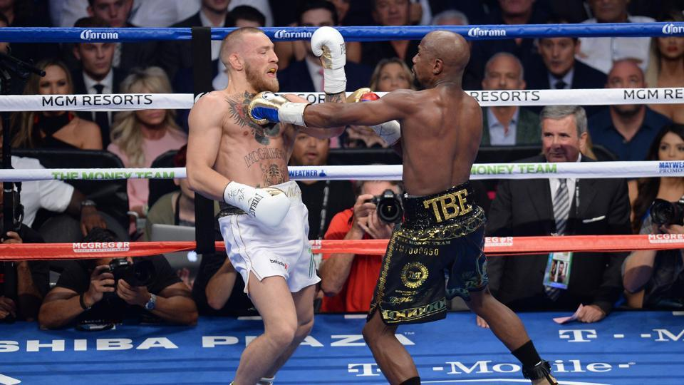 Mayweather beats McGregor via TKO