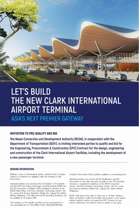 Construction of P12.55B new Clark terminal to start in December
