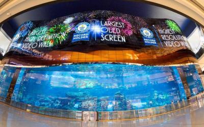 Record-breaking giant HD screen unveiled at Dubai Aquarium