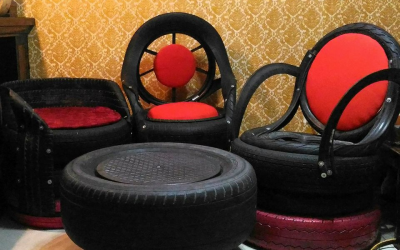 Ex-OFW profits from making furniture out of old tires
