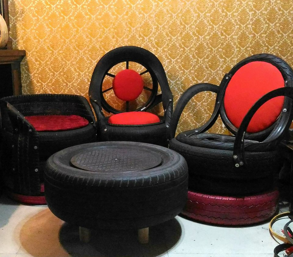 Ex Ofw Profits From Making Furniture Out Of Old Tires The Filipino