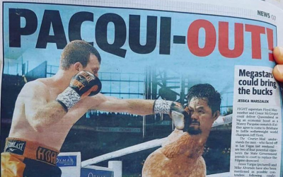 Australian paper pokes fun at Pacquiao for withdrawing from Horne rematch