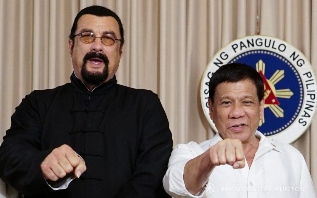 Steven Seagal poses for fist-pump photo with Duterte