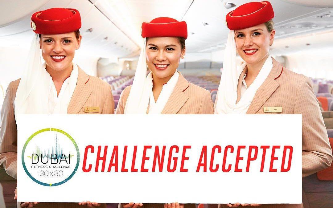 Emirates responds to Sheikh Hamdan's fitness challenge