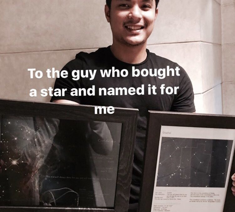 Filipino 'buys' star, names it after his girlfriend?