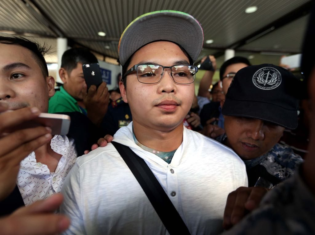 ust hazing suspect returns to ph