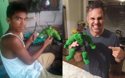'The Hulk' Mark Ruffalo lauds Pinoy artist for 'tsinelas' action figure