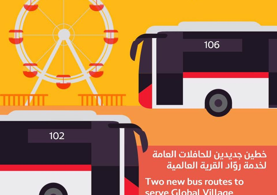 RTA to launch 2 bus routes to Global Village