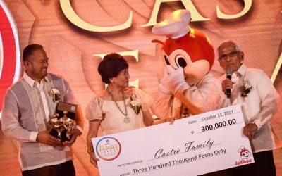 OFW family receives P300,000 for Jollibee Family Values Award