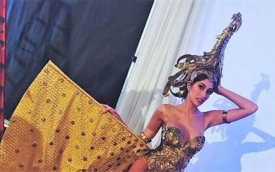 LOOK: Rachel Peters' golden national costume