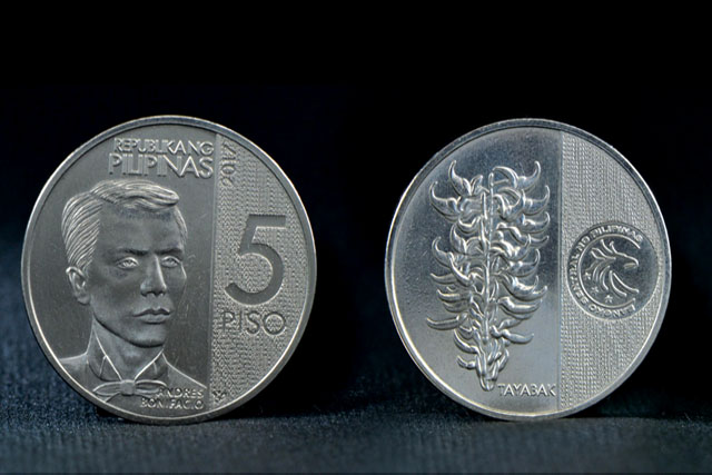 LOOK: P5 coin featuring Bonifacio to be issued in December
