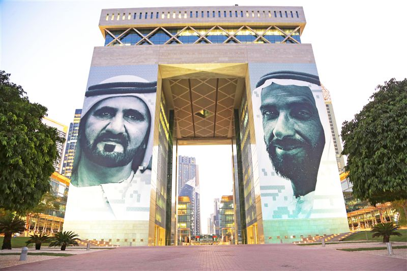Artistic images of UAE leaders on The Gate unveiled