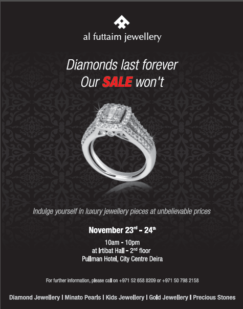 Jewellery sale bonanza for Pinoys this weekend