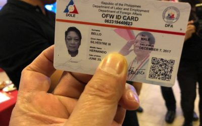 OFW IDs bear Pres. Duterte's face