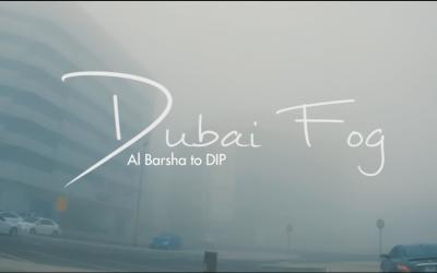 Dubai Fog – a video shoot from Al Barsha to DIP. This is nice.
